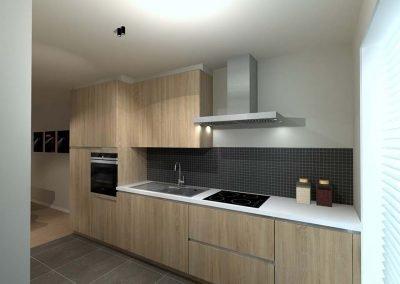 Keuken gesloten bebouwing - Langwater